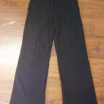 Magaschoni Neiman Marcus  395 Black Knit Woven Jersey Welt Pockets Pants Sz 30 Photo
