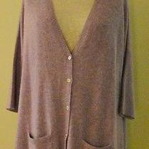 Magaschoni Plum Oversized v Neck Long Cashmere Cardigan/sweater Nwt S/m Photo