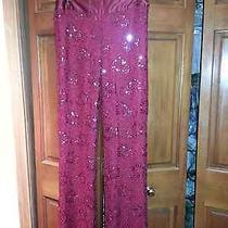 Magaschoni  Red Beaded Dress Pants  Photo