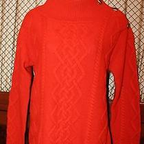Magaschoni Women's Wool Cable Knit Luxe Sweater  Size Medium Photo