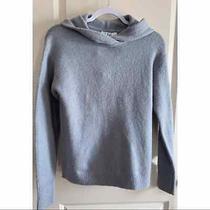 Magaschoni Wool Blend Hoodie Sweater Gray Xs Photo