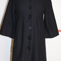 Magashoni Black Wool Sweater Coat Size Xs Super Fun Photo