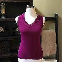 Magenta Shirt/vest by Express Size Xs Photo