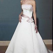 Maggie Sottero New 10 Heather Rose Diamond White Blush Bridal Gown Wedding Dress Photo