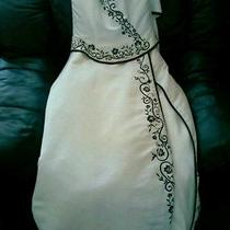 Maggie Sottero Wedding Gown Corset Style Lace Up Back Real Swarovski Crystals  Photo