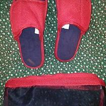Magnetic Slippers Avon New Red Size 8-10 W/ Storage Bag Nice Christmas Gift Photo