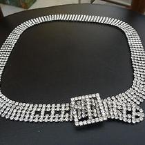Magnificent Rhinestones Shine Like Diamonds Women's Adjustable Evening Belt  Photo