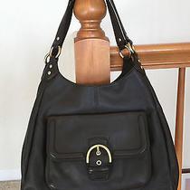 Mahogany Brown Coach Campbell Hobo Leather Handbag 24686 Mint Condition  Photo