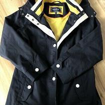 Maine Navy Blue Hooded Parker Jacket Nautical Size 10 Maine Rain Jacket Parker Photo