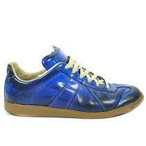 Maison Martin Margiela -  Blue Leather Low Top Sneakers - Mens Us 11 - 44 Photo