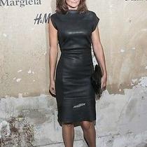 Maison Martin Margiela for h&m Black Car Seat Leather Dress Us 12/42 Eur Photo