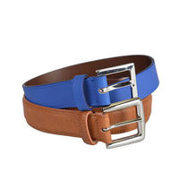 Maison Martin Margiela Leather Blue Brown Double Belt Us 25-26 It 70 Photo