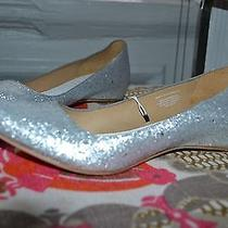 Maison Martin Margiela Silver Glitter Shoes W/ Necklace Heels New 41 10.5 Photo