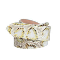 Maison Martin Margiela Snake Skin Print Leather Belt Us 27-28 It 80 Photo