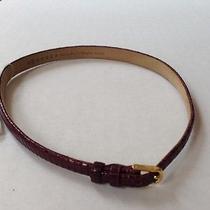 Maison Martin Margiela Snakeskin Leather Wrap Bracelet Bordeaux  Photo