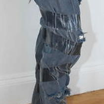 Maison Martin Margiela Taped Blue Jeans New  40 4 Photo
