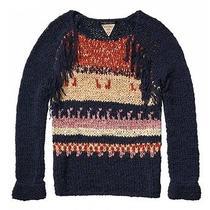 Maison Scotch Bohemian Tape Yarn Sweater Navy and Multi-Color Photo