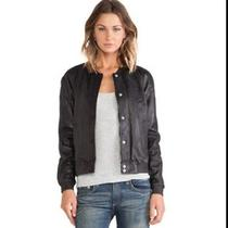 Maison Scotch Leather Bomber Jacket Sold Out Photo