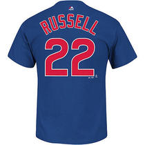 Majestic Athletic Men's Chicago Cubs Addison Russell Name and Number Photo