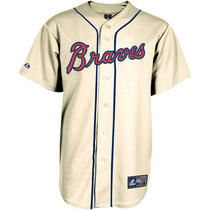 Majestic Men's Atlanta Braves Replica Craig Kimbrel Alternate Ivory Jersey Large Photo