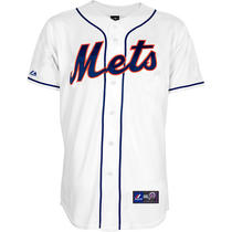 Majestic Men's New York Mets Replica Generic Alternate White Jersey Xx Large Photo