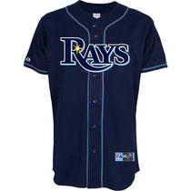 Majestic Men's Tampa Bay Rays Replica Evan Longoria Alternate Navy Jersey Medium Photo