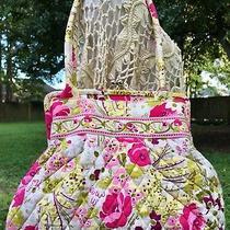 Make Me Blush Vera Bradley Alice Kiss-Lock Fall Shoulder Tote Handbag Purse Euc Photo