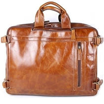 Man Briefcase Bag Man Business Bag Natural Pattern Genuine Cow Leather Ble1312 Photo