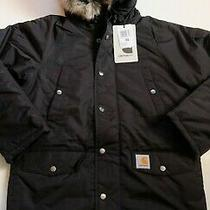 Man Jacket Carhartt Anchor Parka (Black) Size Xs Value Photo