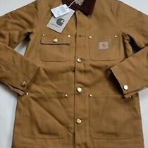 Man Jacket Carhartt Michigan Choreography Coat (Hamilton Brown Rigid) Size Xs Photo