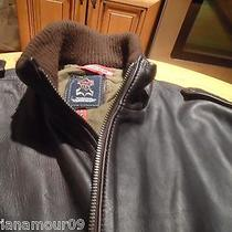 Man Motorcycle Leather jacket.moroccan Lamb Leather. Photo