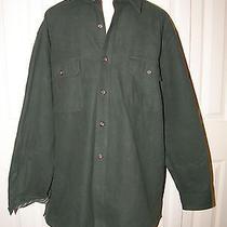 Man's Levi's Strauss Classic 100% Cotton Flannel Long Sleeve Green Shirt Sz Xl Photo