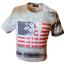 Man's Multi-Color Givenchy American Flag T-Shirt Size S Photo