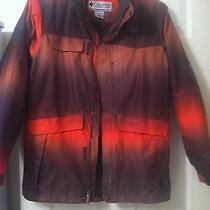 Man's Orange Camouflage Columbia Titanium Waterproof Coat  Photo