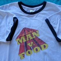 Man v. Food Ringer Tee Shirt Size L Travel Channel Television Adam Richman  Photo