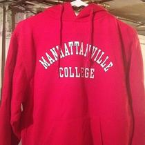 Manhattanville College Red Hooded Sweatshirt Small-Used Photo