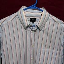 Mani by Giorgio Armani Men's Dress Shirt 15 1/2 Aqua & Blue-- Striped Photo