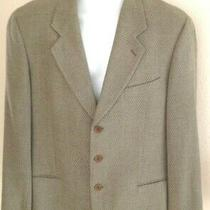 Mani by Giorgio Armani Sport Coat 42r Taupe Diagonal Woven Texture  Photo