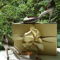 Manolo Blahnik 39.5 9.5 Glitter Dorsay Pumps Astutado Event or Wedding Shoes Photo