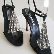Manolo Blahnik Crystal Heels Sandals Eu 39 Us 8.5 Photo