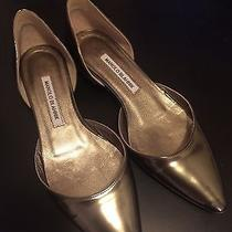 Manolo Blahnik d'orsay Metallic Flat Photo