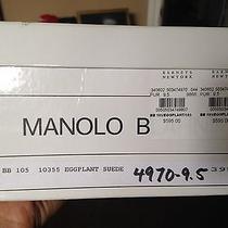 Manolo Blahnik Eggplant Suede Photo