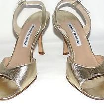 Manolo Blahnik Gold Heels Photo
