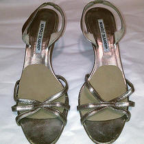 Manolo Blahnik Gold Summer Heels Photo