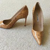 Manolo Blahnik Heels - Cork Pumps Size 38.5 Photo