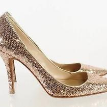 Manolo Blahnik Made in Italy Gold Metallic Sequin High Heel Pumps Size 39 Photo