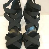Manolo Blahnik Platee Elastic Strappy Shoe 41 11 Photo