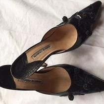 Manolo Blahnik Rare Stilleto Mules Photo