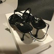 Manolo Blahnik Sling Back Sandals Size 40 Black Photo