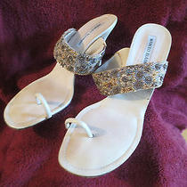 Manolo Blahnik Toe Ring Thong Sandals  ( Made in Italy)  Photo